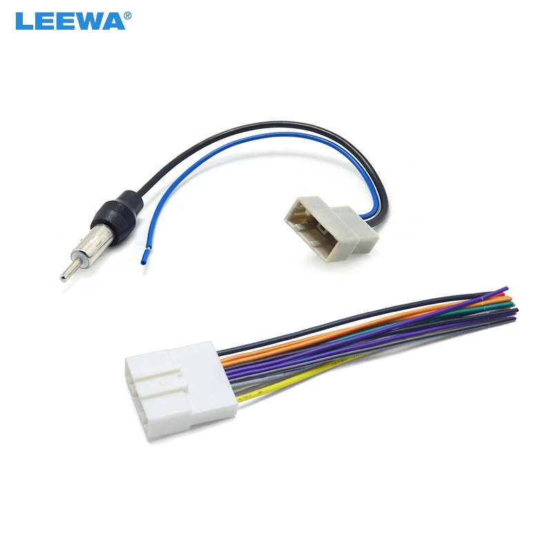 Car cd audio stereo wiring harness antenna adapter for