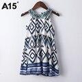 A15 dress kids de la muchacha 2017 de la muchacha del verano beach túnica vestido infantil impresa Vestido de Adolescente Princesa Diseño Del Vestido 8 10 12 14 16 Año