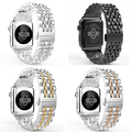 Luxury Stainless Steel Strap Band Watchband Buckle for Apple Watch 38mm 42mm