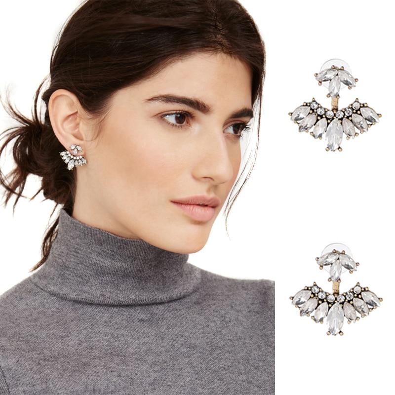 JURAN 2019 Nouveau Design Blanc Noir Rétro Stud Doux Boucles D'oreilles Pour Les Femmes Amovible Cristal Vintage Charme Boucles D'oreilles En Gros F3107