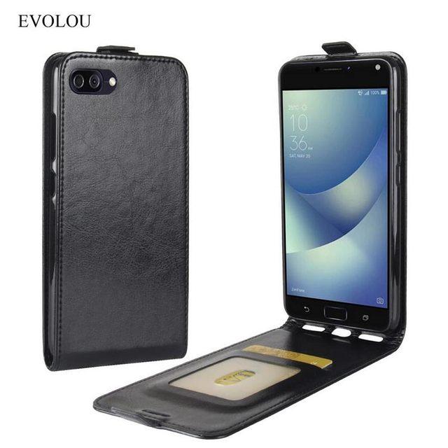 flip cover for asus zenfone 4 max zc554kl case vertical phone bag