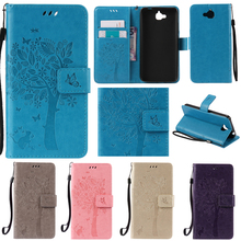 Neo Cute Cartoon Tree and Cat Embossing Wallet Flip Fundas Case For Huawei Honor 4C Pro Y6 Pro Enjoy 5 Honor Holly 2 Plus Cover