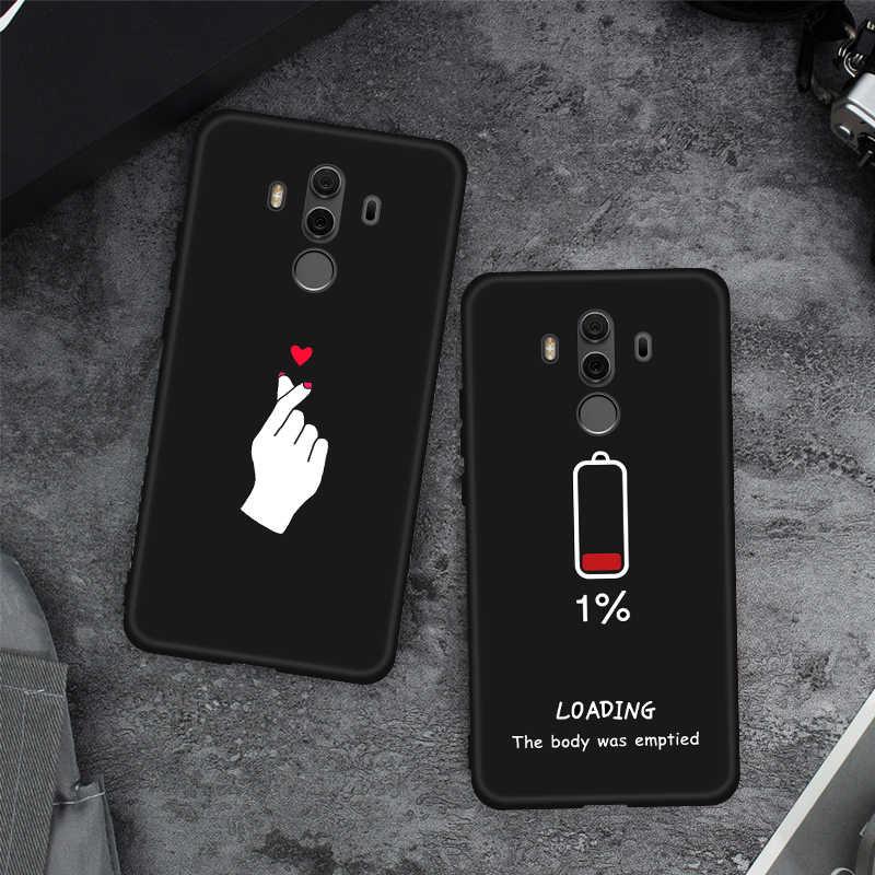 Silicone tpu padrão capa protetora para huawei y5 y6 y7 prime 2018 honra 7c 7a pro 7 c a 7x8x7 s caso do telefone capa traseira coque