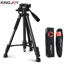 цена на KINGJOY Officia VT-860 Professional Portable Travel Aluminium Camera Tripod Video Accessories Stand with Pan Head for SLR DSLR