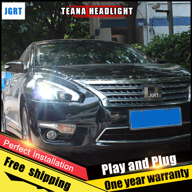 2PCS Car Style LED headlights for Nissan TEANA 13-14 for TEANA head lamp LED Lens Double Beam H7 HID Xenon bi xenon lens hireno headlamp for mercedes benz w163 ml320 ml280 ml350 ml430 headlight assembly led drl angel lens double beam hid xenon 2pcs