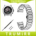 De liberación rápida de acero inoxidable venda de reloj 20mm 22mm para luminox hombres mujeres butterfly hebilla correa de pulsera de la muñeca negro oro plata