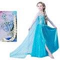 De los niños de La Princesa Vestido de La Muchacha Niños Anna Elsa Disfraces Vestidos para Niñas de La Reina de La Nieve Niñas Niño Ropa de Navidad