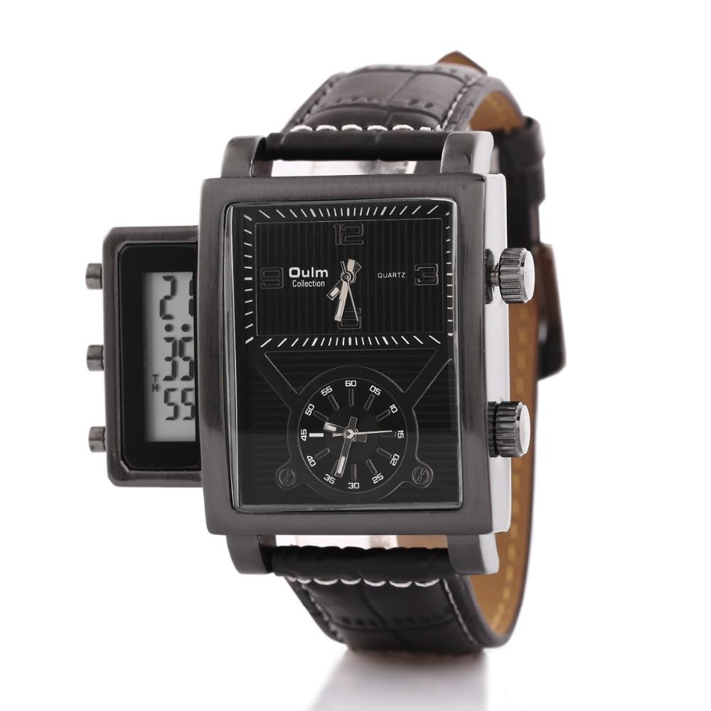 Oulm marca de moda populares relojes adolescentes con led digital dial relojes baratos para los hombres