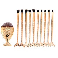 New Professional 11PCS Makeup Brush Sets Foundation Eyebrow Eyeliner Blush Cosmetic Concealer Brushes Tools Pincel Maquiagem Health & Beauty
