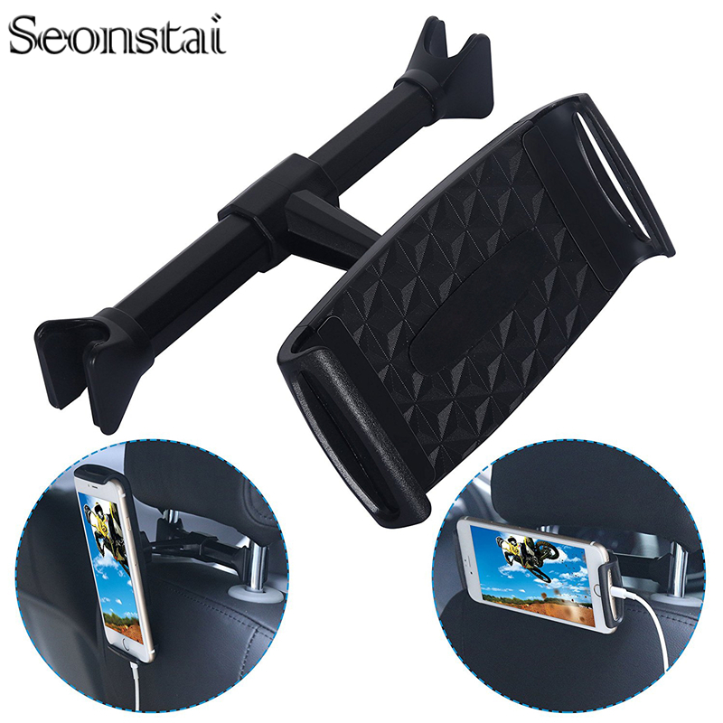 4-11inch Car Back Seat Tablet Holder Extendable and Rotatable Car Phone Tablets Holder Stand Mount Support Car Headrest Bracket
