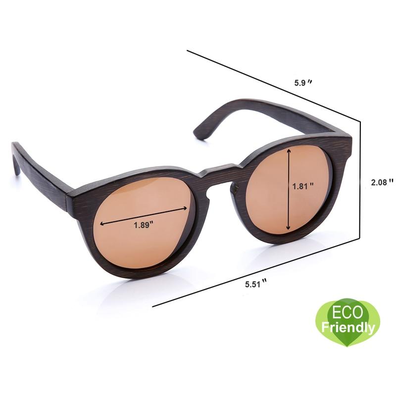 Verschiffen Lens Leder Sonnenbrille Vision Fall Klare Mit Case Bambus With Für Polarisierte Brown Holz Männer Runde Frauen Und Freies Pawq6t7xz