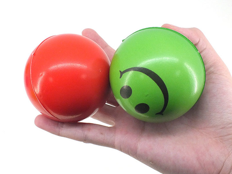 Antistress Ball Face Squeeze Stress Emotional Exercise Stress Pu Foam Balls Funny Toys for Children 6pcs 6.3cm Orange,Red,Yellow