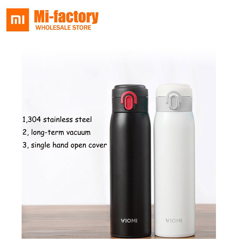 Original Xiaomi VIOMI Stainless Steel Vacuum Flask Water Bottle Cup Thermos sports bottle steel thermal insulated 480ML a07 stainless steel vacuum flask bottle cup blue silver 300ml