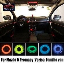 Гибкий Неон Холодный Свет/9 М EL Провода Для Mazda 5 Mazda5 Premacy/Verisa/Familia van/Central Control Desk Декоративные Полосы