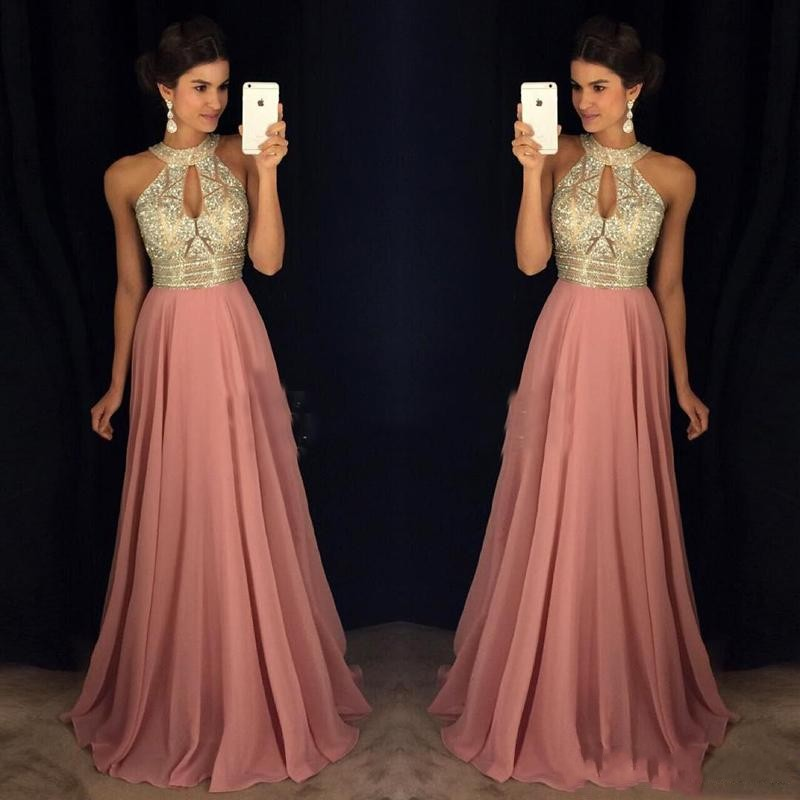 Elegant Dress Formal Beaded Prom Gowns Women Robe De Soiree Crystals Evening Gown Long Off Shoulder