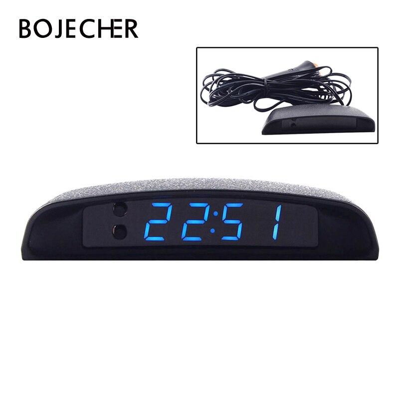 3 in 1 Vehicle Car Kit Luminous Thermometer Voltmeter Clock LED Digital Display