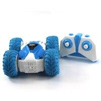 RC 자동차 양면 스턴트 자동차 2.4G 미니 원격 제어 쿨 텀블링 트럭 360 Degree 롤링 회전 휠 차량 장난감 선물