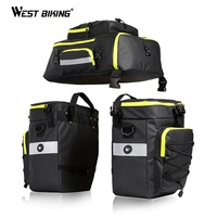 WEST BIKING 75L MTB Bicycle Carrier Bag Rear Rack Bike Trunk Bag Luggage Pannier 3 in 1 Cycling Double Side Back Seat Bags