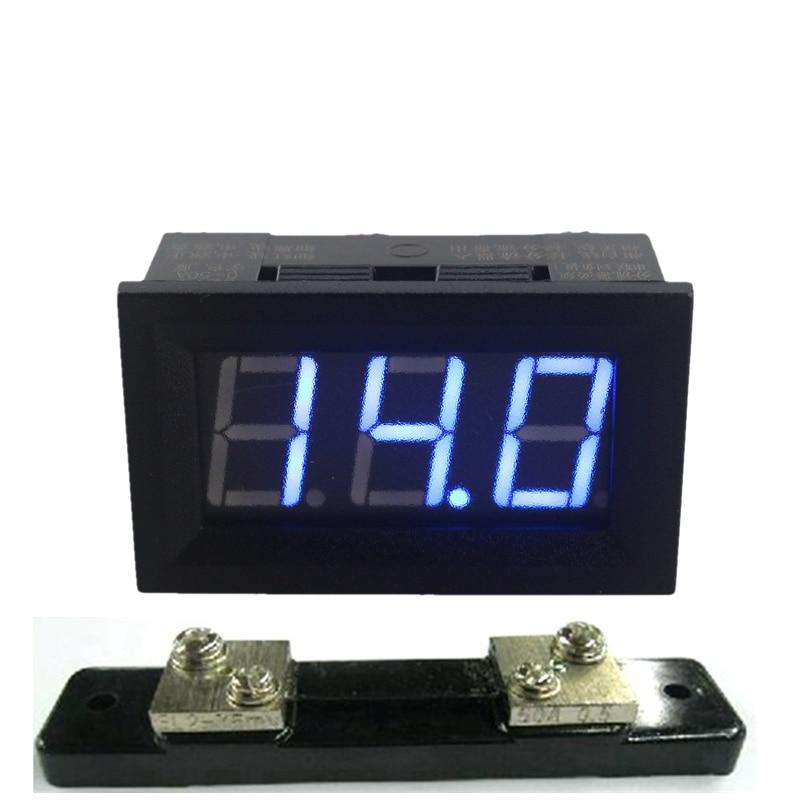 Digital DC 0-50A Amperemeter Amp Panel Messer Current Meter Vier ...