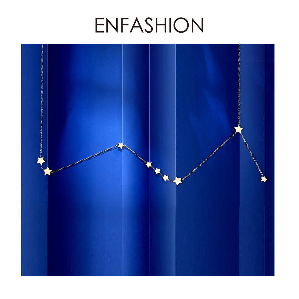 Enfashion Star Choker Necklace For Women Best Friend Gift Gold Color Chain Necklaces Fashion Boho Holiday Jewelry Ketting PM3004
