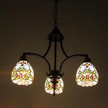 Nordic Европейский стиль пастырской тиффани подвесной светильник Американский кантри столовая кухня комната Средиземноморский