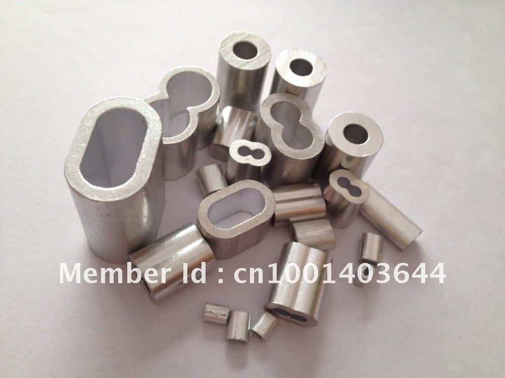 Free Shipping Aluminum Cable Crimps Sleeves Clip Fittings