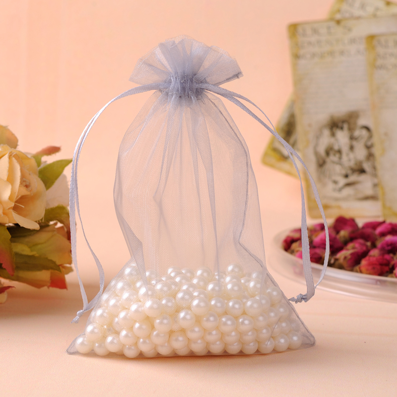 sacolas de presente Organza Jewelry Bag 17x23cm 50pcs Fabric Gift Bags sachet organza Gift Pouch Can