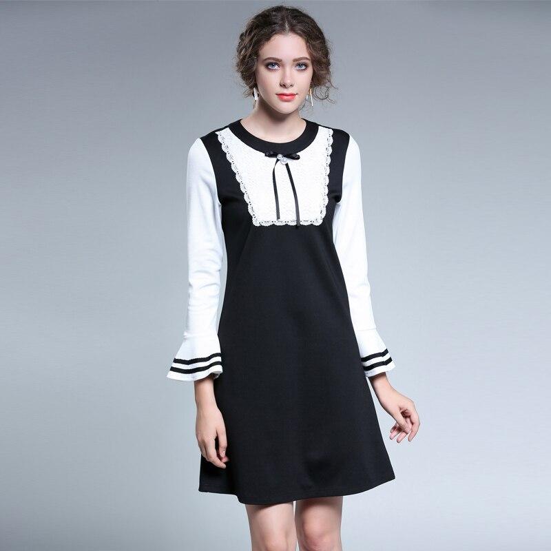 5xl women formal dresses large sizes2017 Femme Elegant office work party Plus size autumn winter full sleeve Dresses