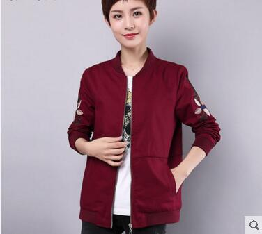2018 new wave of middle aged women's spring jacket 40 50 year old mother dress coat female long section of middle aged people