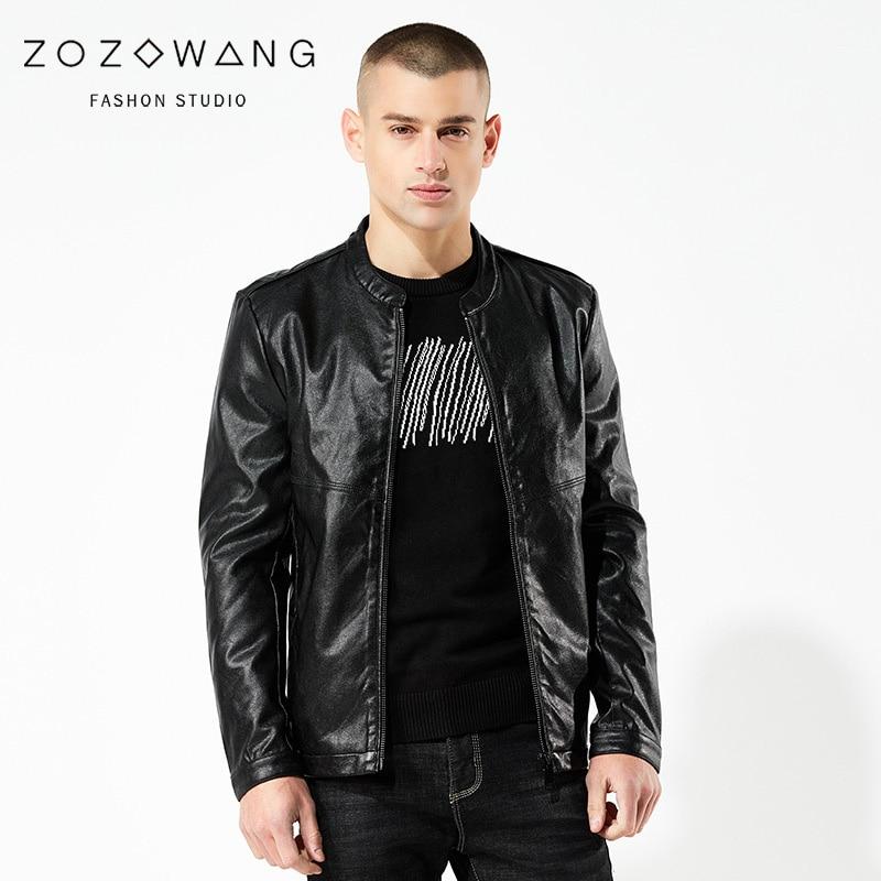 Classique Noir Veste Hommes 2019 Manteau Nouvelle marine Bleu Printemps Zozowang Moto Vêtements Hiver De 4xl Été Cuir Loisirs En c5L3ARq4j
