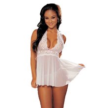 Night of foreign trade sexy charm large size sexy lace lingerie lace nightgown