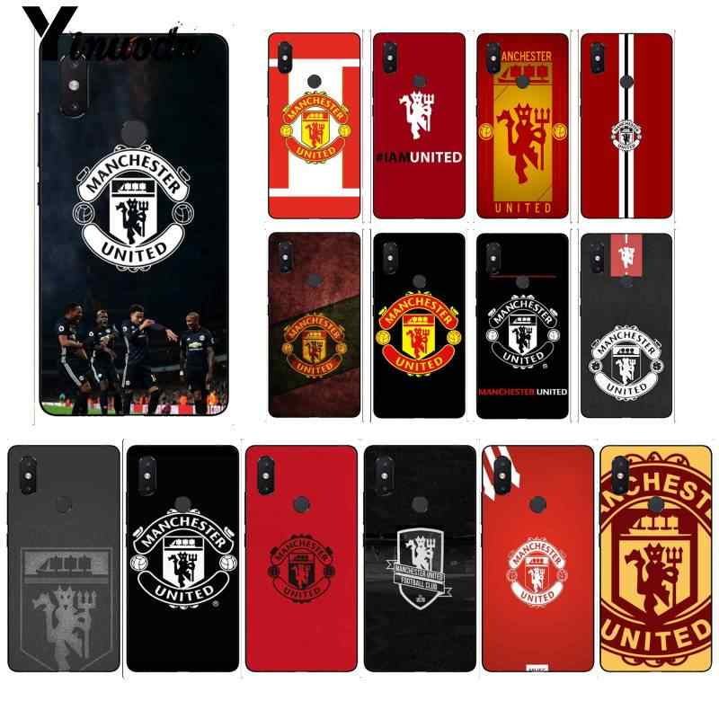 Yinuoda Manchester United FC Black Soft Shell Phone Cover for Xiaomi Mi 6 Mix2 Mix2S Note3 8 8lite Redmi 5 note5 Note4 4X