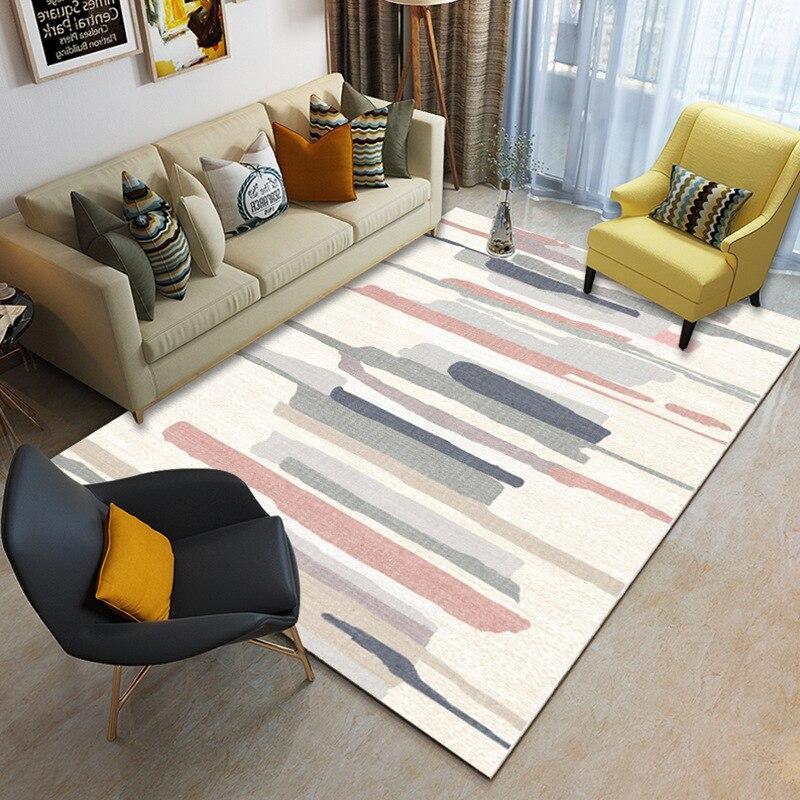 Nordic Modern Geometric Minimalism Area Rug And Carpet For Home Living Room Bedroom Bedside Large Anti Slip Floor Home Door Mat