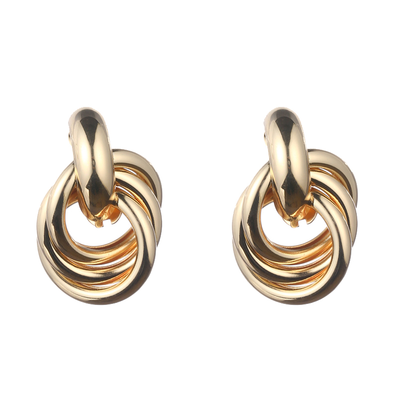 Fashion Knot Stud Earrings for Women Jewelry Vintage Statement Earings 2020 Geometric Gold Silver Plated Earings Brincos