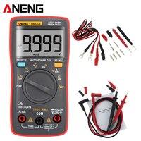 ANENG AN8008 TransitorTester True RMS Digital Multimeter 9999 Count Backlight Ammeter Voltage Ohm Current Square Voltmeter