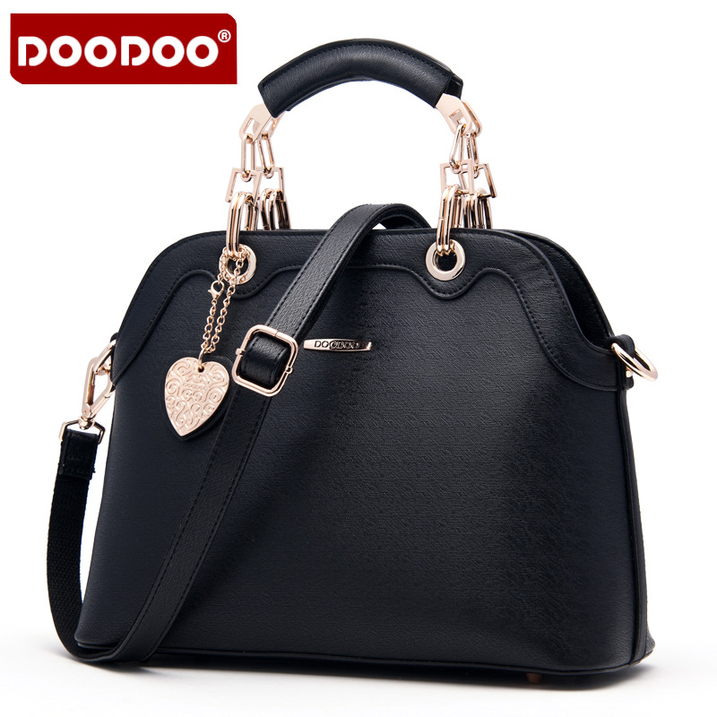 Doodoo Women's Leather Trapeze Tote Bag Ladies Handbag Casual Crossbody Messenger Bag Fashion Shoulder Bag Top Handle Satchel
