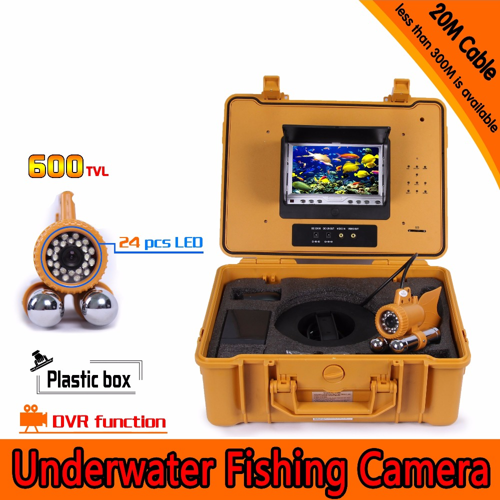 600TVL 20m HD Underwater AV Endoscope Camera With 7 Inch LCD Monitor DVR