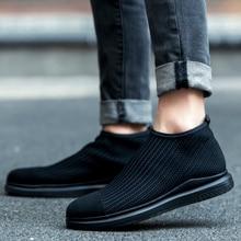Hot! new men's classic comforable weaving Casual Shoes Mesh autumn Style Solid Man Flats Breathable Shoes fashion men's shoes