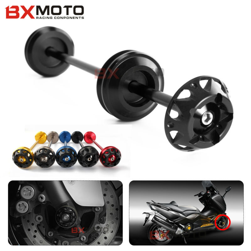 New motorcycle accessories motorcycle CNC Front Axle Slider Falling Protection For Yamaha TMAX 530 Year 2012 2013 2014 2016 пробка анальная с вибратором телесная большая