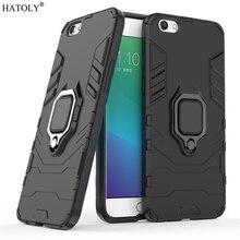 OPPO R9S Case Cover for OPPO R9S Magnetic Finger Ring Phone Case Shell Bumper Protector HATOLY Hard Back Armor Case For OPPO R9S