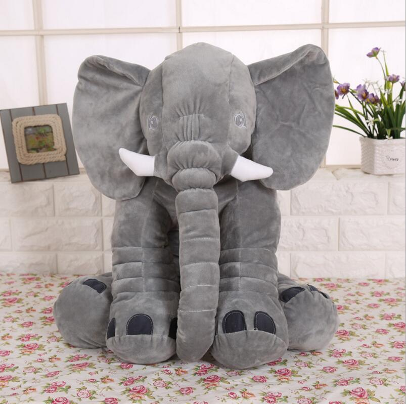 Stuffed Purple Gray Elephant Pillow Para Bebe Child Baby Animal Plush Soft Elephant Cushion For Baby Blue Red Pink 40cm 60cm Toy