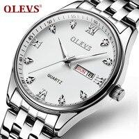 8b36939f37a OLEVS Simples Homens de Negócios Assistir Data e Semana Calendário  Masculino Relógio de Quartzo Dial Mãos