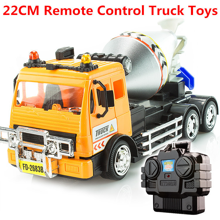 Remote Control Truck Toys Car Model Toy Light Cement Mixer