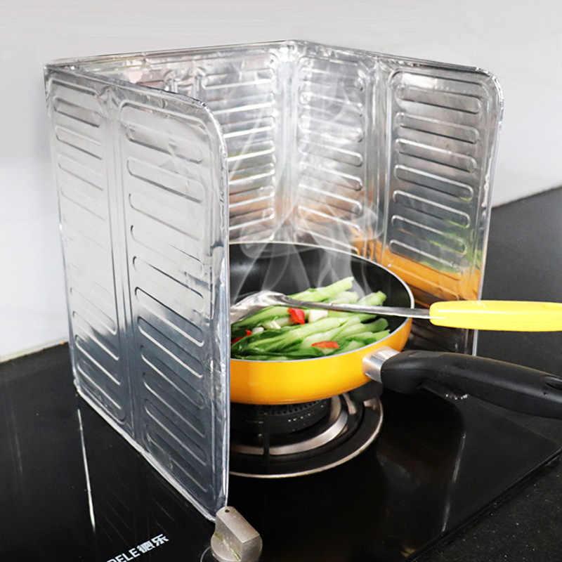 Aluminum Foil Kitchen Cooking Frying Pan Oil Splash Anti Splatter Guard Shield