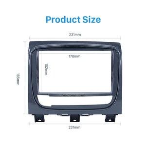 Image 3 - ซีเทอร์ UV สีเทาคู่ Din วิทยุรถยนต์สำหรับ FIAT STRADA DVD แผงติดตั้งเครื่องเสียงรถยนต์กรอบ