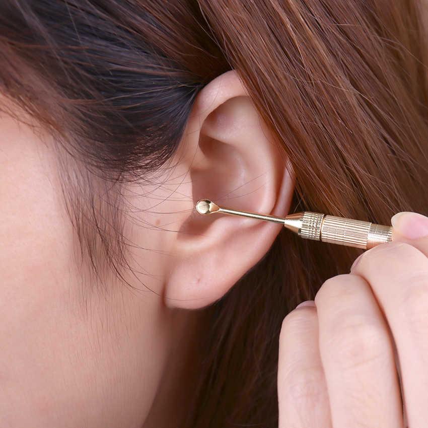 1 conjunto mini earwax cleaner fácil de transportar multifunções orelha limpa desnatado earwax ouvido limpo ferramentas ferramenta de cuidados com a orelha