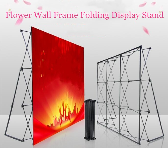 Exhibition Stand Frame : Portable flower wall folding stand frame for wedding backdrops
