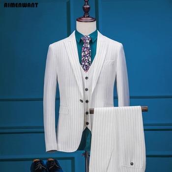 novi stilovi novi proizvod super jeftino AI, мужской костюм, сделанный на заказ, 3 предмета, Европейский ...