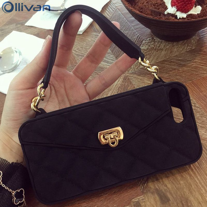 Ollivan Girl Handbag case for iphone 7 case silicone TPU wallet Card holder back cover for iphone 7plus fundas coque for iphone7