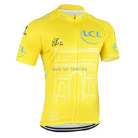 Tour De France 2015 Cycling Jersey Short Sleeve Ropa Ciclismo Cycling Clothing 2015 Yellow